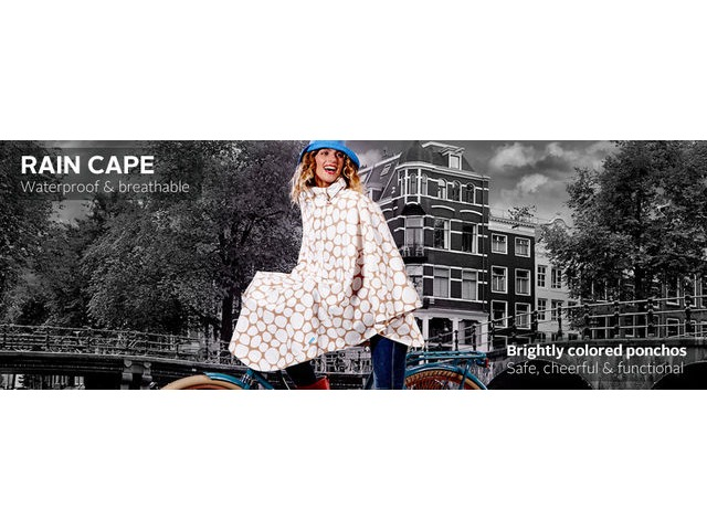 HAPPY RAINY DAYS Rain Cape click to zoom image