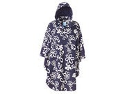 HAPPY RAINY DAYS Rain Cape  Joy Navy/white flower click to zoom image