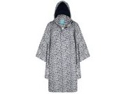 HAPPY RAINY DAYS Rain Cape  Nadya rose flower navy/white click to zoom image